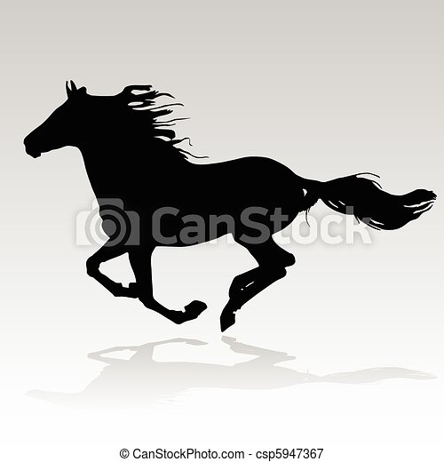 horse running - csp5947367
