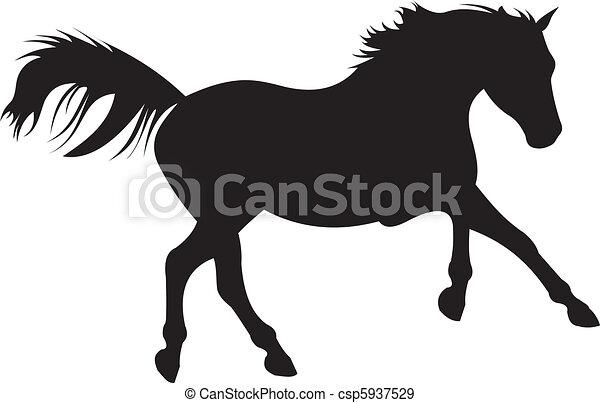 horse silhouette vector - csp5937529