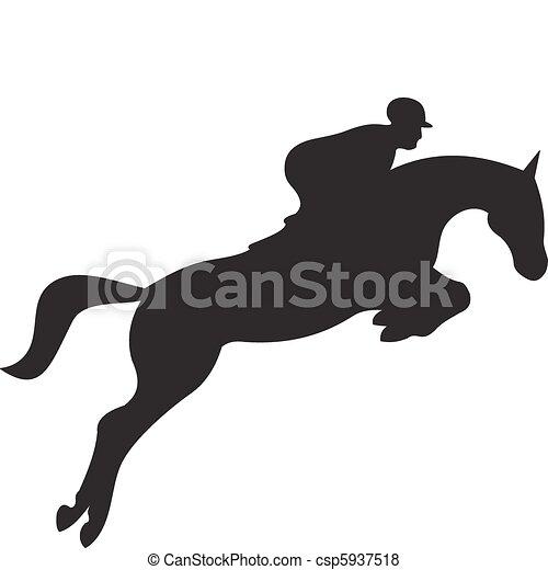 horse silhouette vector - csp5937518