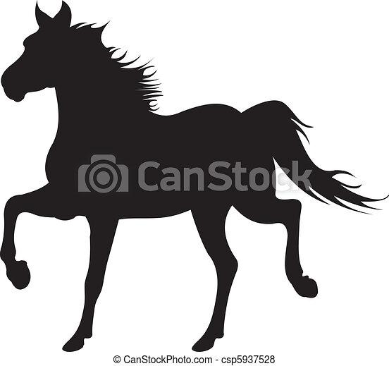 horse silhouette vector - csp5937528