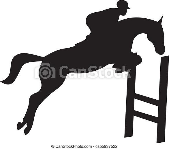 horse silhouette vector - csp5937522