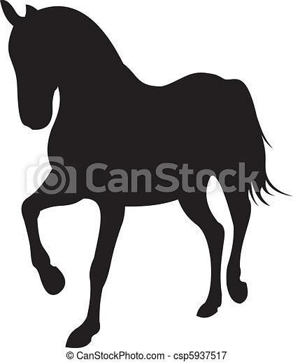 horse silhouette vector - csp5937517