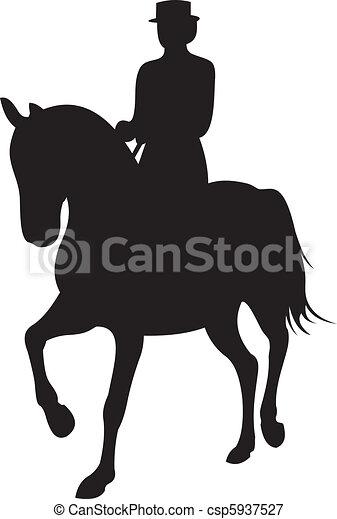 horse silhouette vector - csp5937527