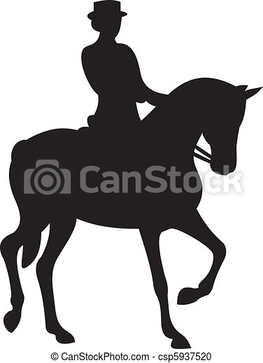 horse silhouette vector - csp5937520