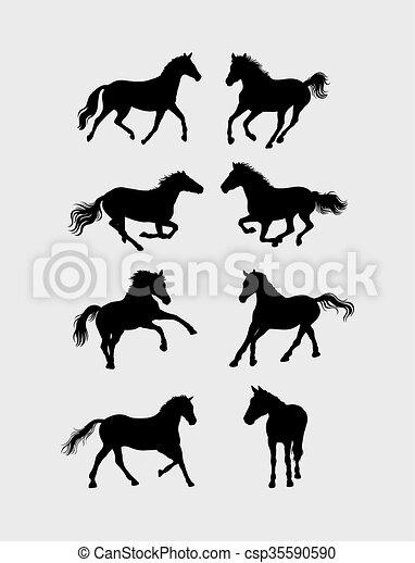 Horse Silhouettes - csp35590590