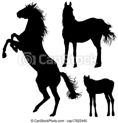 Horse Silhouettes - csp17622440