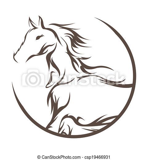 horse symbol  - csp19466931