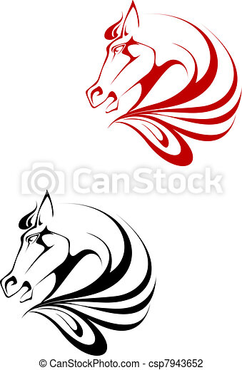 Horse tattoo - csp7943652