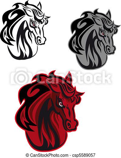 Horse tattoo - csp5589057