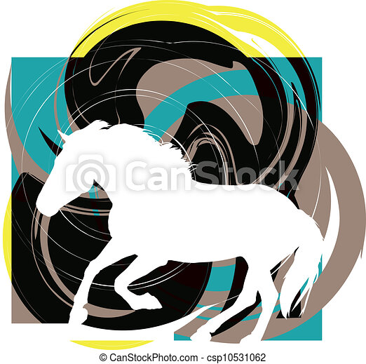 Horse vector illustration - csp10531062