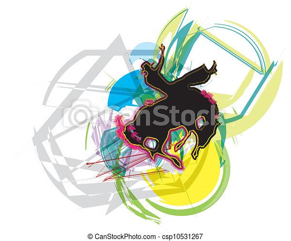 Horse vector illustration - csp10531267