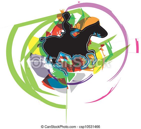 Horse vector illustration - csp10531466