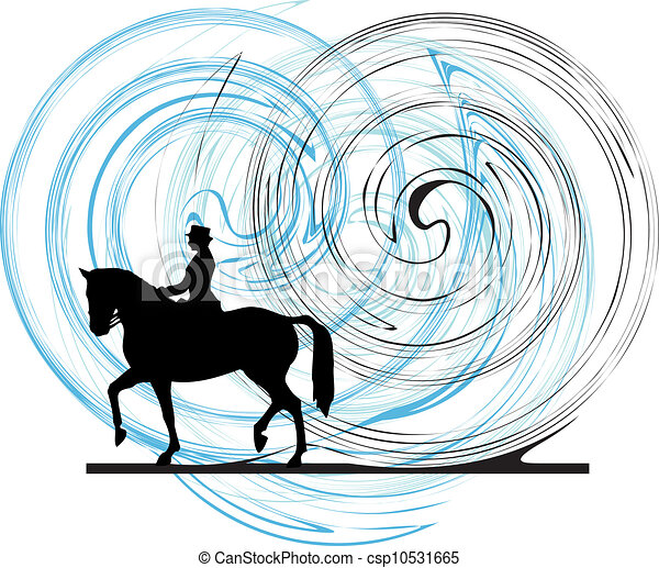 Horse vector illustration - csp10531665
