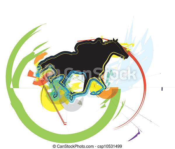 Horse vector illustration - csp10531499