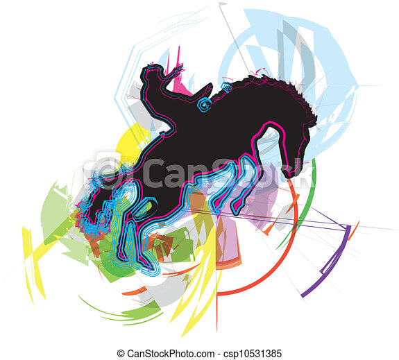 Horse vector illustration - csp10531385