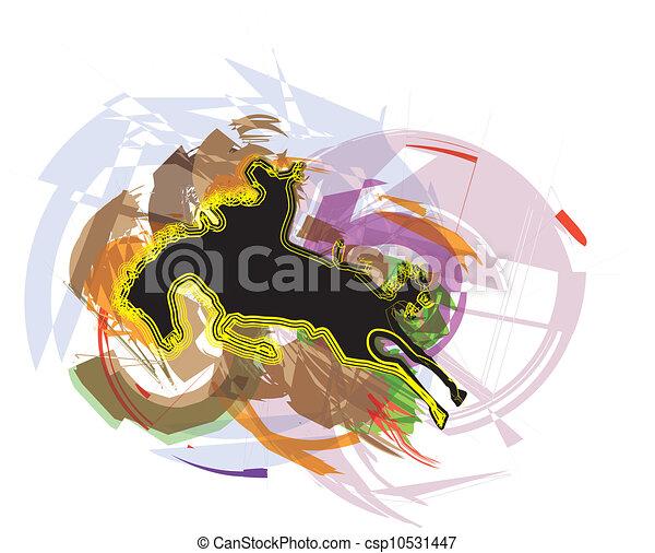 Horse vector illustration - csp10531447