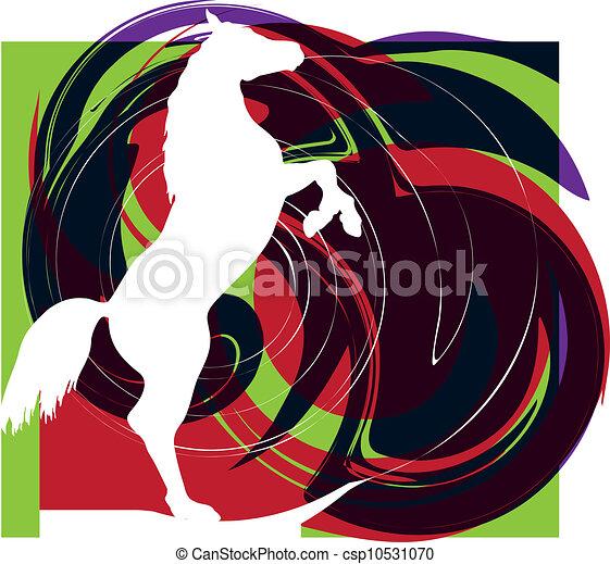 Horse vector illustration - csp10531070
