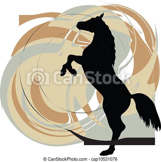 Horse vector illustration - csp10531076
