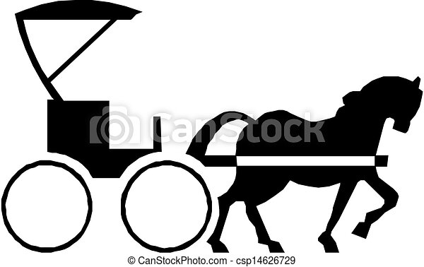 horse with carriage black silhouette of a horse with carriage rh canstockphoto com amish horse and buggy clipart