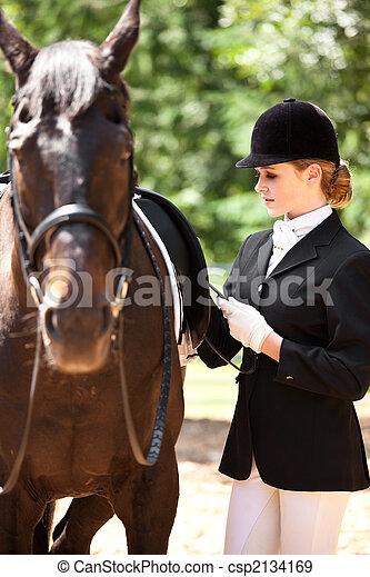 Horseback riding girl - csp2134169