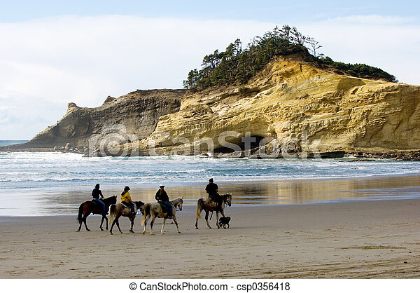 Horseback riding - csp0356418
