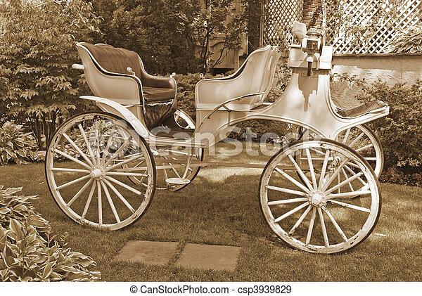 Horseless Carriage Sepia - csp3939829