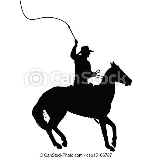 Horseman With Whip Silhouette Of A Horseman Cracking A Whip