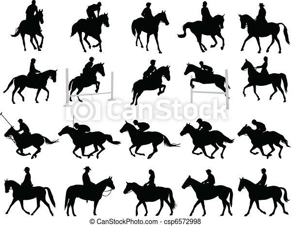 Horsemen silhouettes - csp6572998