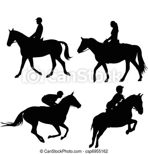 Horses and equestrians - csp6955162