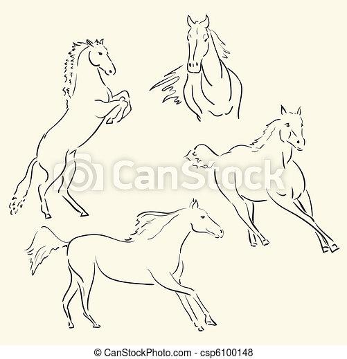 horses - csp6100148