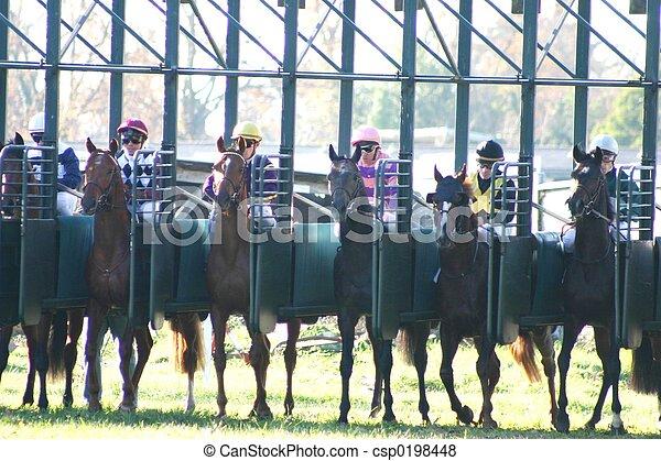 horses racing - csp0198448