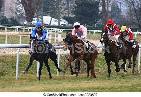 horses racing - csp0223803