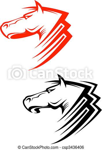 Horses symbols - csp3436406