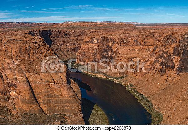 Horseshoe Bend meander of Colorado River in Glen Canyon, Arizona, US - csp42266873
