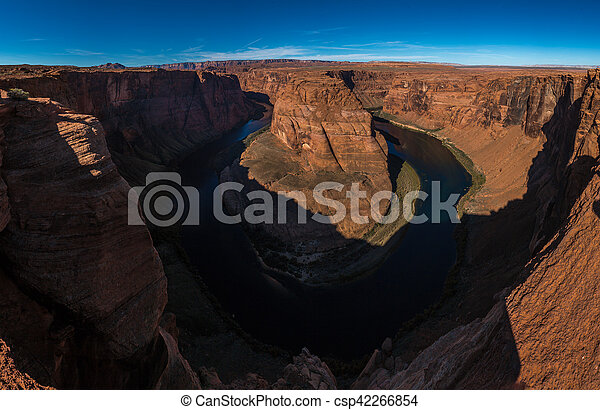 Horseshoe Bend meander of Colorado River in Glen Canyon, Arizona, US - csp42266854