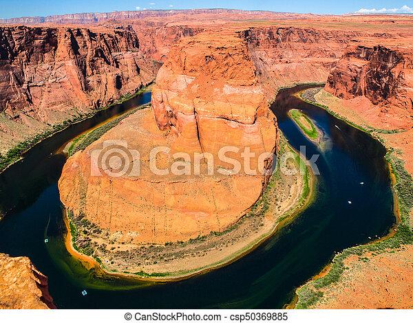 Horseshoe Bend, meander of the Colorado River near Page, Arizona, USA - csp50369885