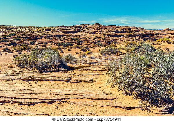 Horseshoe Bend on Colorado River in Glen Canyon, Arizona, USA - csp73754941