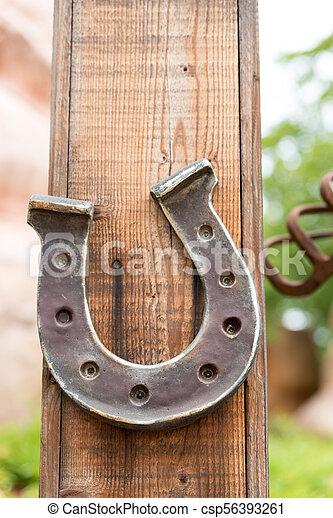 Horseshoe lucky horse - csp56393261