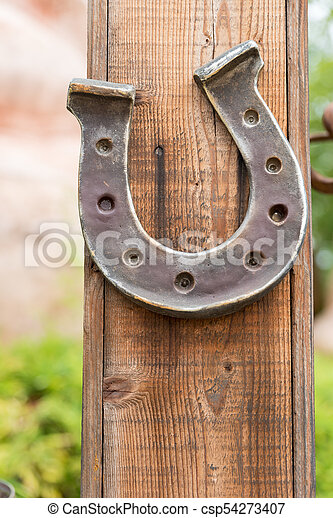 Horseshoe lucky horse - csp54273407