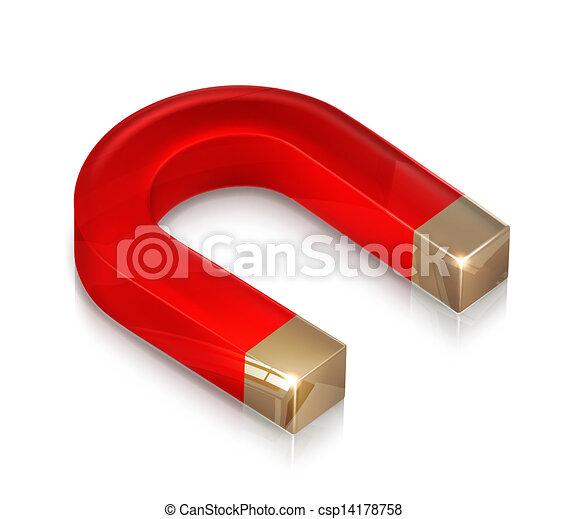 Horseshoe magnet - csp14178758