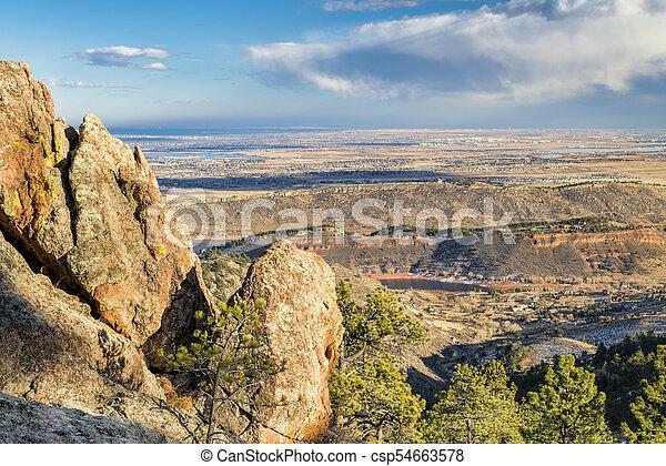 horsetooth, rocha, loveland, colorado, foothills - csp54663578