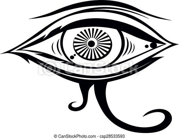 Horus Eye Horus One Eye Theme Vector Art Illustration Eps Vectors