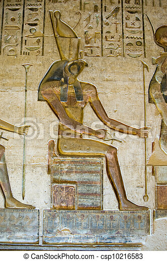 Horus God on Throne - csp10216583