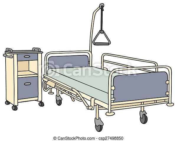 hand drawing of a classic metal hospital bed clipart vector search rh canstockphoto com patient hospital bed clipart patient hospital bed clipart