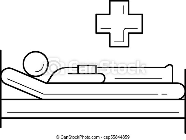 hospital bed line icon hospital bed vector line icon isolated on rh canstockphoto com hospital bed clipart free hospital bed clipart images