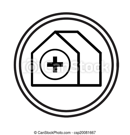 image of hospital building symbol vector isolated on white clip art rh canstockphoto com clip art hospital patient clip art hospital patient