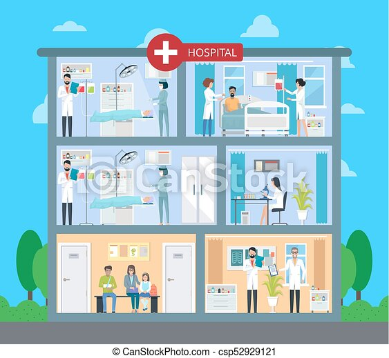 hospital building with floors vector illustration Health Care Workers Clip Art Doctors Cartoons Clip Art Free