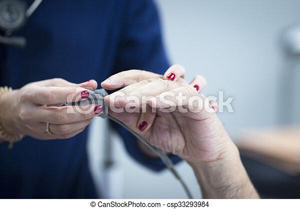 Hospital hand surgery orthopedics operation - csp33293984