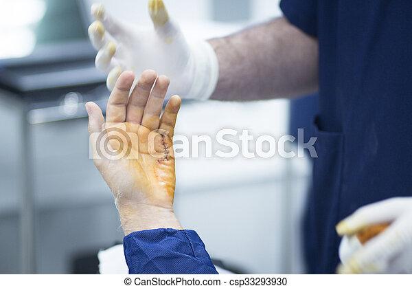 Hospital hand surgery orthopedics operation - csp33293930