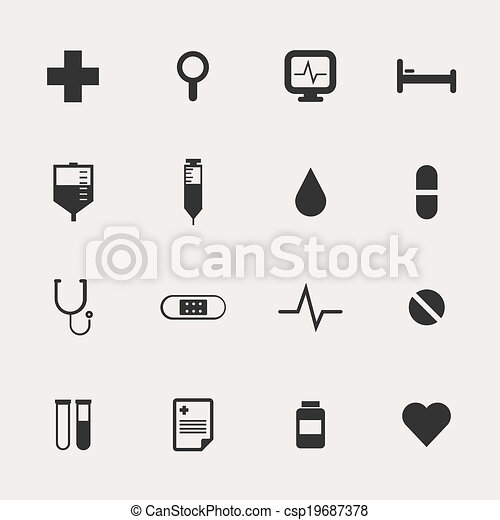 Hospital Icon Set - csp19687378